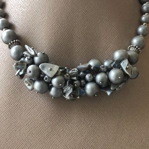 Jewelry - Silver Sparkly Bead Necklace